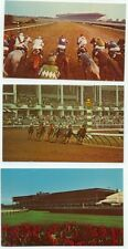 Monmouth Park Jockey club Oceanport NJ Horse Racing Lot 3 Postcards New Jersey