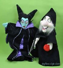 Maleficent & Evil Witch from Snow White Lot of 2 Mini Bean Bag Disney Plush New
