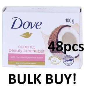 48 X DOVE SOAP COCONUT & Jasmine Scent BEAUTY CREAM BAR 100G BRAND NEW