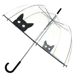 Smati Strong Long Dog Cat Wind Resistant AutomaticTransparent Dome8 Rib Umbrella