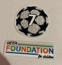 Patch toppa calcio Starball Milan pallone champions No maglia Uefa Foundation