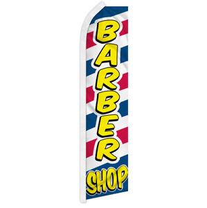 Barber Shop Swooper Feather Flutter Advertising Flag Men's Haircut's Barbershop