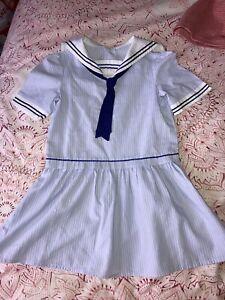 Girls Vintage Sailor Dress 2-3 3-4
