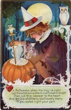 HALLOWEEN POSTCARD. PUBLISHED BY NASH, SERIES #7 POSTALLY USED OCTOBER 31st 1911