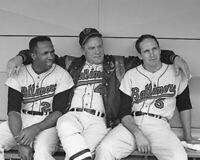 Baltimore Orioles FRANK & BROOKS ROBINSON, HANK BAUER Glossy 8x10 Photo Print