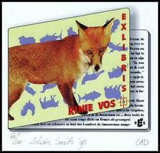 Smits Edwin 1995 Exlibris CRD Bookplate Fox Fuchs Zorro Lis 2000