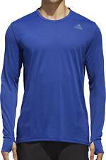 adidas Supernova Mens Running Top Blue Long Sleeve Run Jersey S M L XL