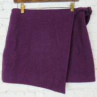 $90 Kate Spade Saturday Womens Sz 4 Buckle Over Mini Skirt Wool Blend Plum