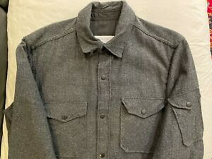 Men's GUSTIN Wool Blend Herringbone CPO Shirt/Jacket XL