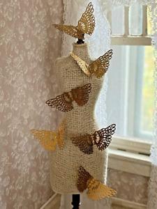 Vintage Miniature Dollhouse Group Brass Butterflies Angel Wings Decor Ornaments