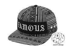 New Famous Stars and Straps Charcoal Baja Mens Snapback Cap Hat
