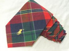 "Polo Ralph Lauren  MEN'S TIE RED, GREEN/POLO PRINT  4"" 56"" USA"