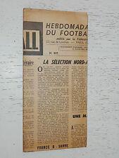 FRANCE FOOTBALL OFFICIEL HEBDOMADAIRE FFF N°447 12/10 1954