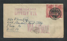1938 Mexico Sc # C68 Pair On Air Mail Cover To Usa
