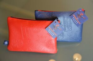 """2 United Airlines  Limited Edition Amenity Kit """" Spiderman"""" Blue and Red Neu!!!"""
