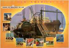 Original Vintage Poster Our America Sending Oil 1943 Coca-Cola School Chart