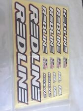 Redline BMX Bicycle Frame & Fork Sticker Set Bike Decals Black Replacement Set