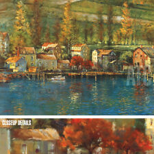 """40W""""x30H"""" CHAMPLAIN by MICHAEL LONGO - VILLAGE LAKE FOREST - CHOICES of CANVAS"""
