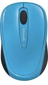 Microsoft - Wireless Mobile Mouse 3500 - Cyan Blue