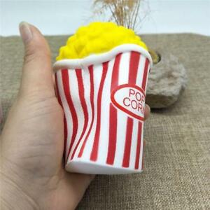 Jumbo Slowing Rising Kawaii Squishies Cat Popcorn Cup Stress Reliever Toy HC