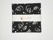 "Classic Black and White Charm Pack Quilt Fabric 40 pieces -  5"" squares"
