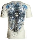 Archaic AFFLICTION Mens T-Shirt FORTIORI Cross Tattoo Biker MMA UFC M-4XL $40 b