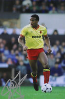 John Barnes Hand Signed 6x4 Photo Watford Liverpool Autograph Memorabilia + COA