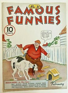 Famous Funnies #31 (Cover Only) Eastern Color Printing Company