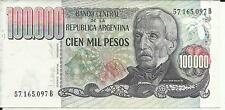 ARGENTINA 100000 PES0S  P 308. XF CONDITION . 5RW 11GEN