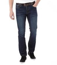 Firetrap Para Hombre de Color Azul Oscuro Wash Gambit Calce Recto Con Cinturón Jeans Varias Tallas BNWT