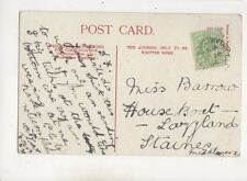 Miss Barrow House Boat Lazyland Staines Middlesex 1906 608b