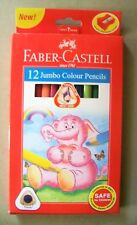 Faber Castell Jumbo 12 Colour Pencils with Sharpener