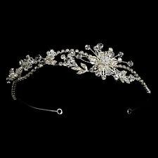 CLOSEOUT Price Vintage Floral Vine Swarovski Crystal Rhinestone Bridal Headband