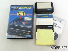 Mega CD Backup RAM Cartridge Japanese Import Sega MD Drive CIB Boxed Japan Cart