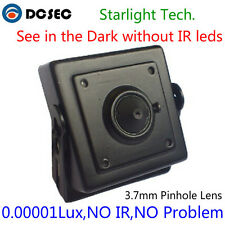 Low Light Mini Hidden CCTV Video Camera HD Analog Sony 700TVL BNC Spy Home Black