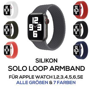 Apple Watch Silikon Sport Loop Armband für Series 1/2/3/4/5/6/SE 38-40mm 42-44mm