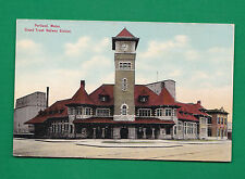 MAINE - PORTLAND, GRAND TRUNK RAILWAY STATION  PC  3741