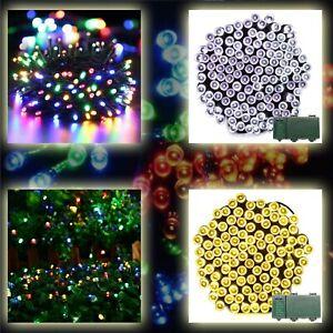 Fairy LED Christmas String Light Tree 100 200 Timer Memory Indoor Outdoor Xmas