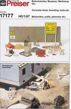 Preiser 17177 H0 Betonmischer Bauzaun Werkzeug