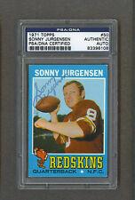 Sonny Jurgensen signed Washington Redskins 1971 Topps football card Psa/Dna