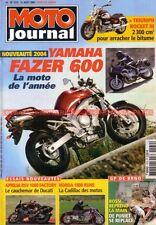 MOTO JOURNAL 1579 APRILIA 1000 RSV Factory YAMAHA Fazer TRIUMPH HONDA NRX 1800