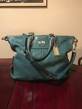 AUTHENTIC COACH MADISON JULIANNE LEATHER BAG TOTE -TEAL