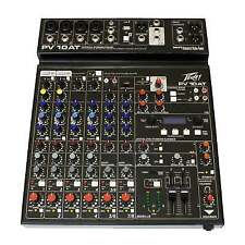 Peavey Pv10 at 8-channel Mixing Desk USB Studio Mixer With Auto-tune BT FX