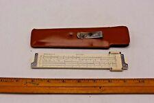 Dietzgen Redirule No. 1776 Slide Rule With Leather Case