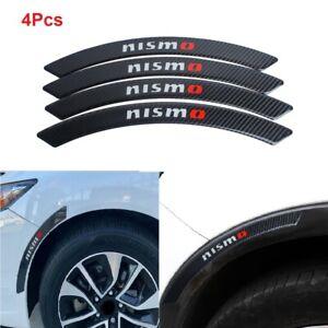 4x Nismo Carbon Fiber Car Wheel Eyebrow Strip Fender Arch Trim Protector Sticker