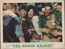 THEGREEN HELMET original GRAND PRIX AUTO RACING lobby card poster JACK BRABHAM