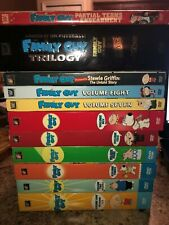 Family Guy Vol 1-8, Stewie's Untold Story, Family Guy Trilogy, and Partial Terms