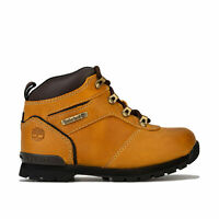 Children Boys Timberland Splitrock 2 Boots In Wheat- Lace Fastening- Padded