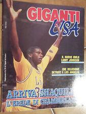 GIGANTI of USA - allegato di GIGANTI del BASKET n. 21/1992 - SHAQUILLE O'NEAL
