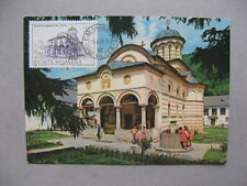 ROMANIA, maximumcard maxi card 1979, church Cozia on prestamped PC